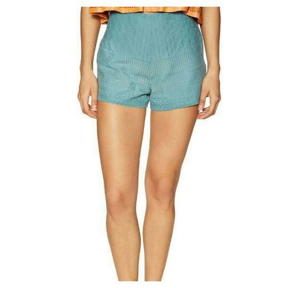 Free People Pants - Free People High Waisted Embroidered Shorts